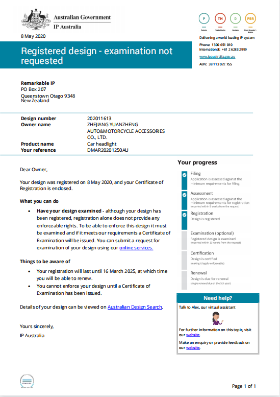 Australian Designs Register