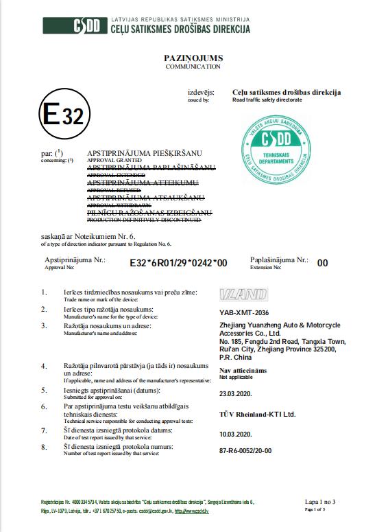 E-MARK YAB-XMT-2036